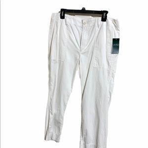 Lauren by Ralph Lauren White Crop Pants Size 12